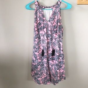 Pink and black floral dress